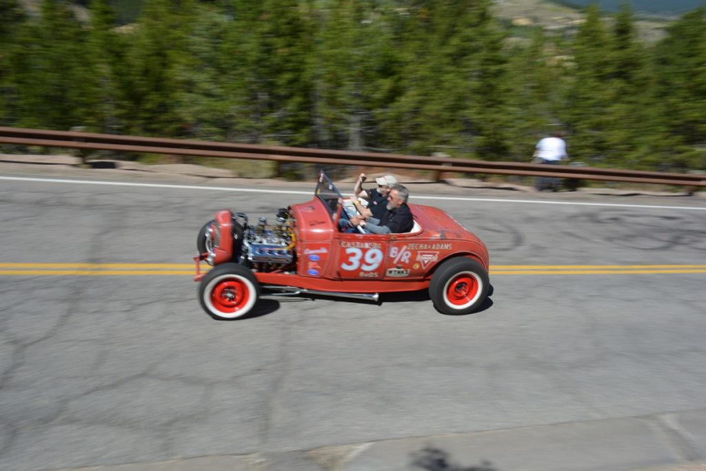 "The Robert's in ""Esmerelda"", a historic Colorado Hot Rod that raced back in the day with T-33."