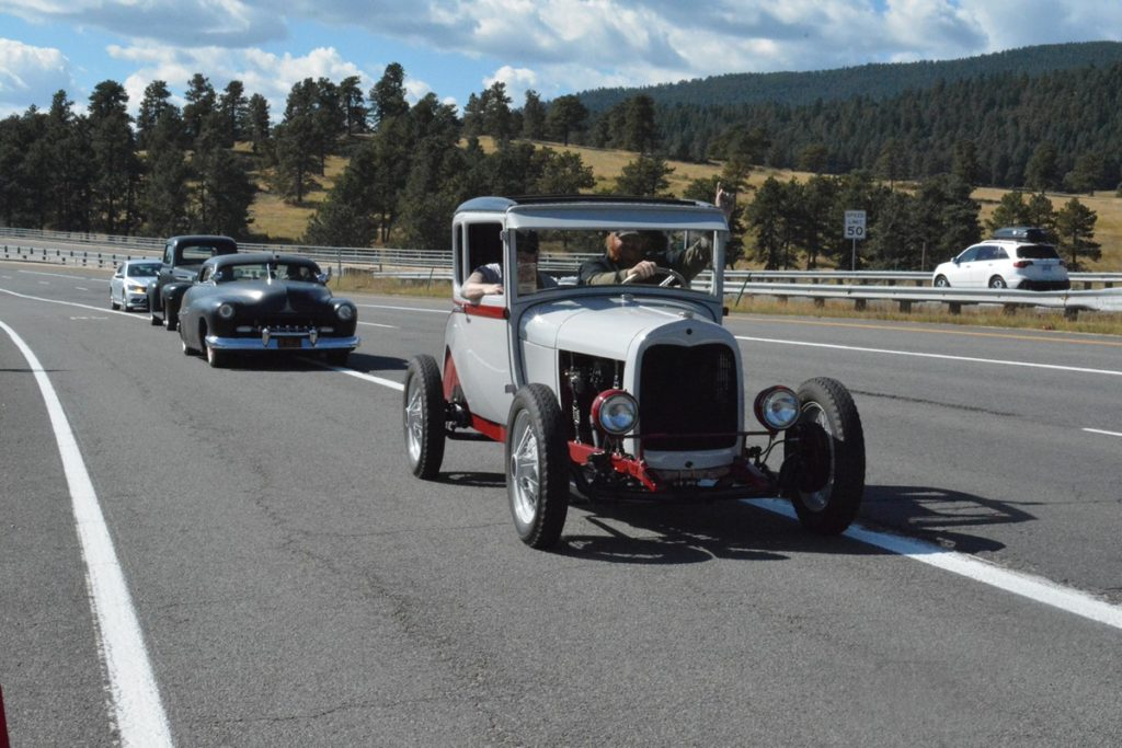 The Bingers leading the pack during the Reliability Run.
